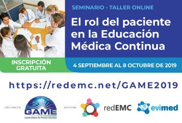 El rol del paciente en la Educación Médica Continua: Seminario-Taller online